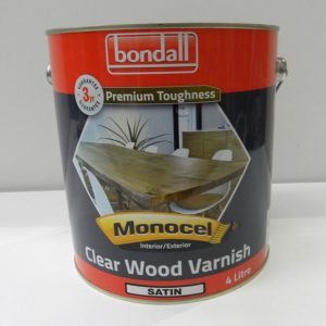 Bondall Clear Wood Varnish Satin – 4L