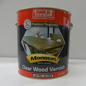 Bondall Clear Wood Varnish Ultra Gloss – 4L