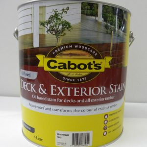 Cabot's Beach House Grey Deck & Exterior Stain Oil Based – 4L