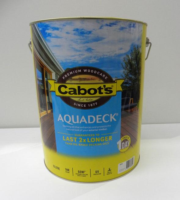 Cabot's Jarrah Aquadeck 10L