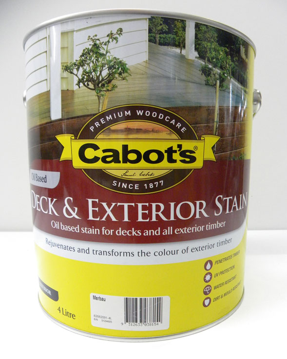 Cabot's Merbau Deck & Exterior Stain Oil Based – 4L