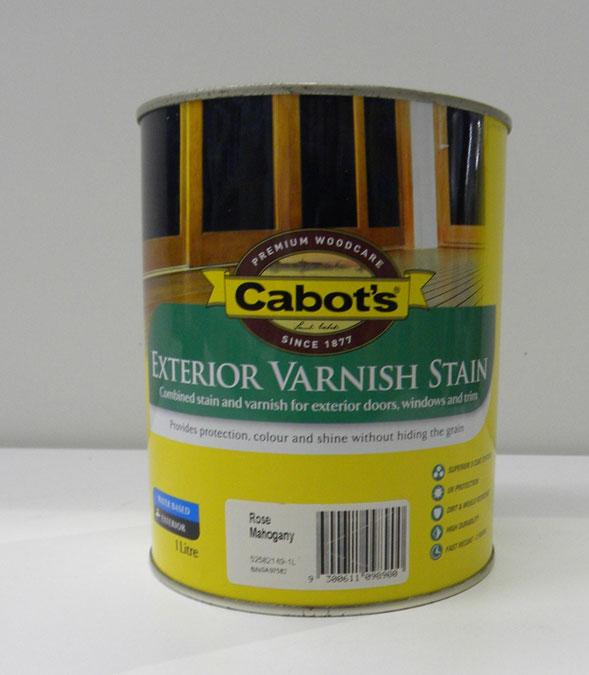 Cabot's Rose Mahogany Exterior Varnish Stain – 1L